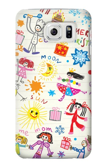 Printed Kids Drawing Samsung Galaxy S7 edge Case