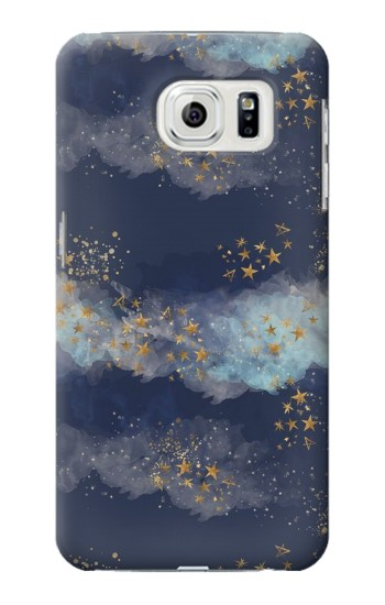 Printed Gold Star Sky Samsung Galaxy S7 edge Case