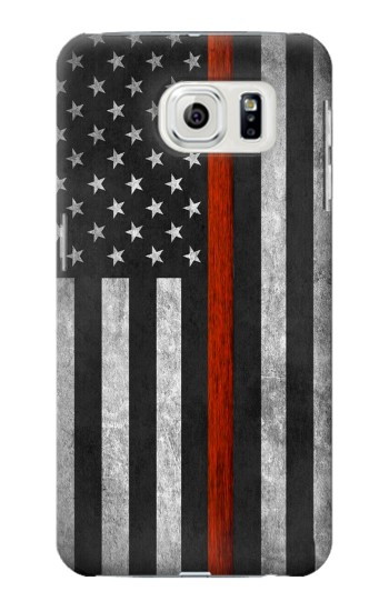 Printed Firefighter Thin Red Line Flag Samsung Galaxy S7 edge Case