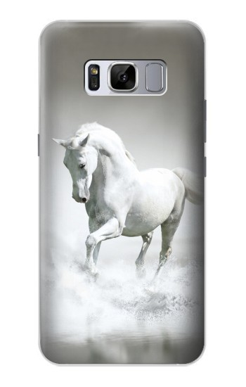 Printed White Horse Samsung Galaxy S8+ Case