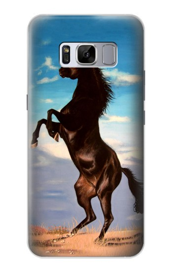 Printed Wild Black Horse Samsung Galaxy S8+ Case