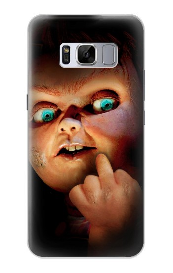 Printed Chucky Middle Finger Samsung Galaxy S8+ Case