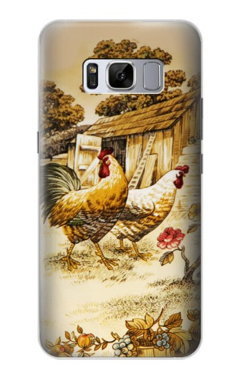 Printed French Country Chicken Samsung Galaxy S8+ Case