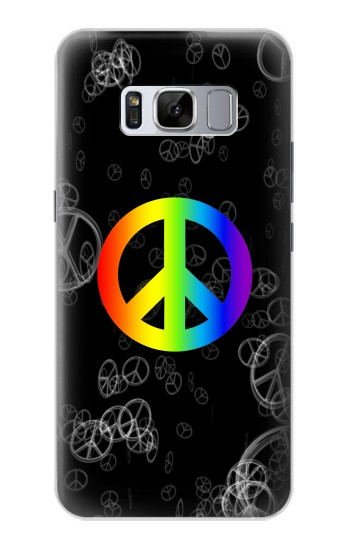 Printed Peace Sign Samsung Galaxy S8+ Case