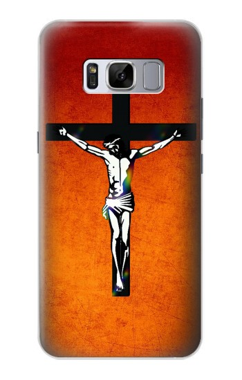 Printed Jesus Christ On The Cross Samsung Galaxy S8+ Case