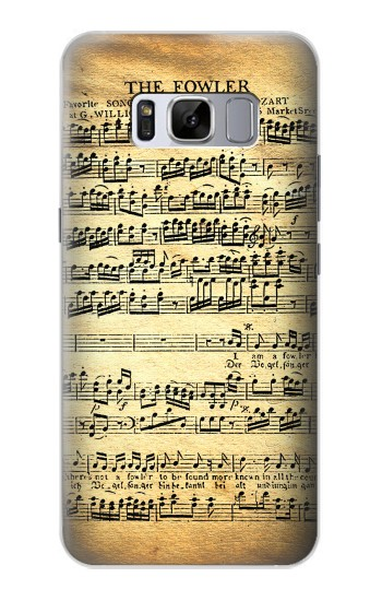 Printed The Fowler Mozart Music Sheet Samsung Galaxy S8+ Case