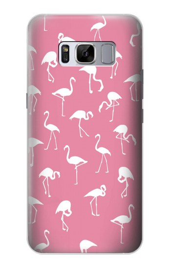 Printed Pink Flamingo Pattern Samsung Galaxy S8+ Case