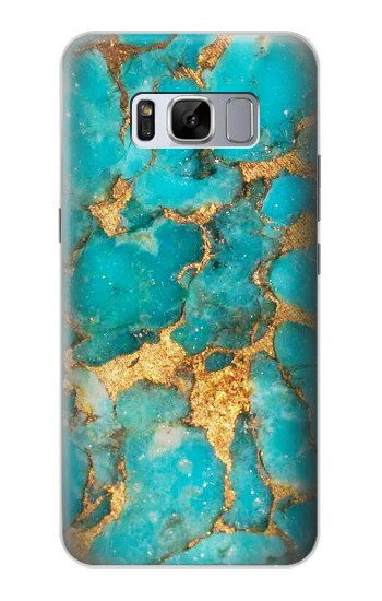 Printed Aqua Turquoise Stone Samsung Galaxy S8+ Case