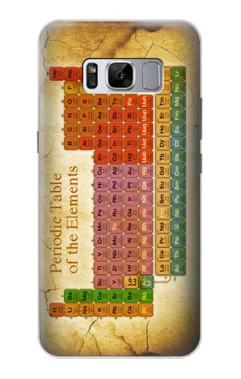 Printed Vintage Periodic Table of Elements Samsung Galaxy S8+ Case