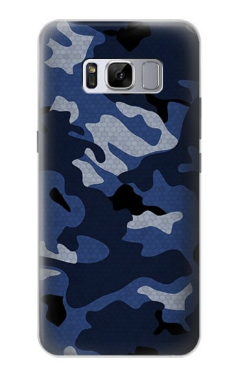 Printed Navy Blue Camouflage Samsung Galaxy S8+ Case