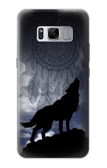 Printed Dream Catcher Wolf Howling Samsung Galaxy S8+ Case
