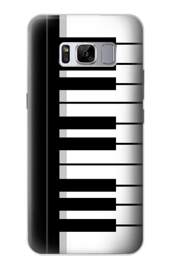 Printed Black and White Piano Keyboard Samsung Galaxy S8+ Case