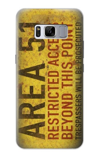 Printed Area 51 Restricted Access Warning Sign Samsung Galaxy S8+ Case