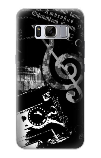 Printed Music Cassette Note Samsung Galaxy S8+ Case