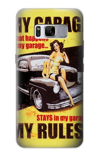 Printed My Garage Pinup Girl Samsung Galaxy S8+ Case