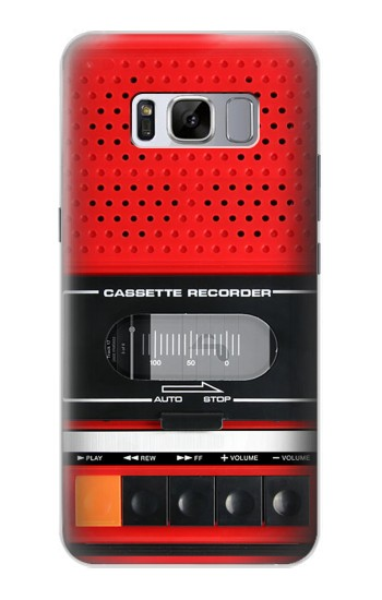 Printed Red Cassette Recorder Graphic Samsung Galaxy S8+ Case