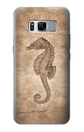 Printed Seahorse Old Paper Samsung Galaxy S8+ Case