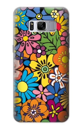 Printed Colorful Flowers Pattern Samsung Galaxy S8+ Case