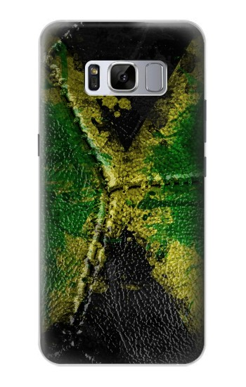 Printed Jamaica Flag Vintage Football 2018 Samsung Galaxy S8+ Case