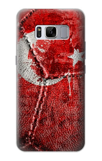 Printed Turkey Flag Vintage Football 2018 Samsung Galaxy S8+ Case