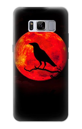 Printed Crow Red Moon Samsung Galaxy S8+ Case