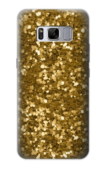 Printed Gold Glitter Graphic Print Samsung Galaxy S8+ Case