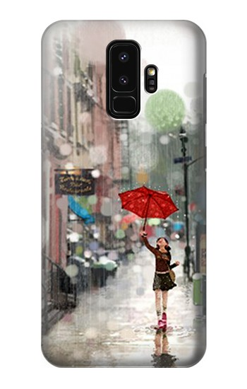 Printed Girl in The Rain Samsung Galaxy S9+ Case