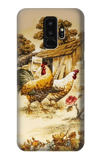 Printed French Country Chicken Samsung Galaxy S9+ Case