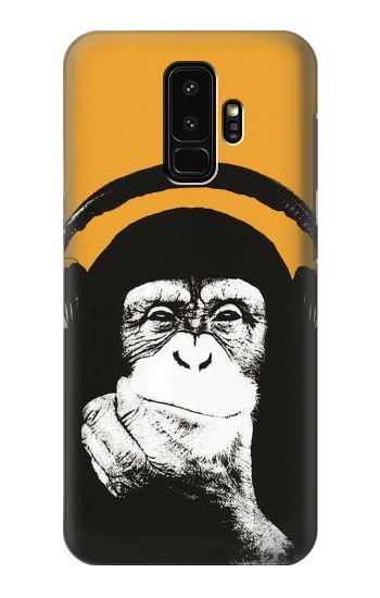 Printed Funny Monkey with Headphone Pop Music Samsung Galaxy S9+ Case