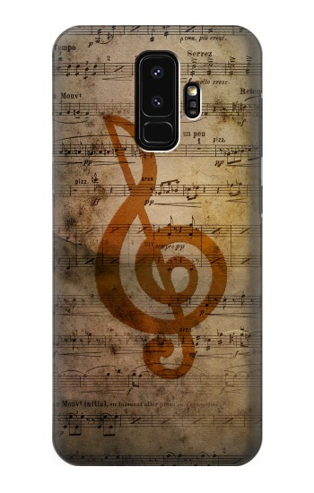 Printed Sheet Music Notes Samsung Galaxy S9+ Case