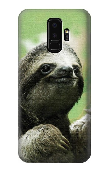 Printed Smiling Sloth Samsung Galaxy S9+ Case