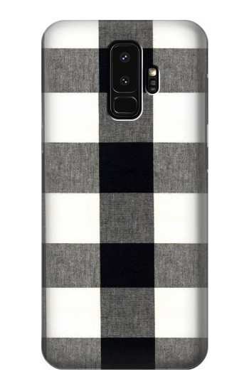 Printed Black and White Buffalo Check Pattern Samsung Galaxy S9+ Case