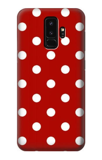 Printed Red Polka Dots Samsung Galaxy S9+ Case