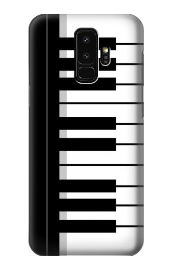 Printed Black and White Piano Keyboard Samsung Galaxy S9+ Case