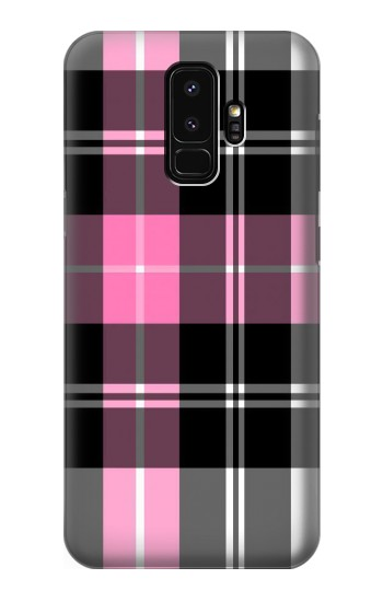 Printed Pink Plaid Pattern Samsung Galaxy S9+ Case