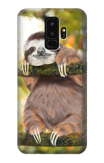 Printed Cute Baby Sloth Paint Samsung Galaxy S9+ Case