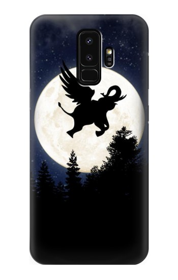 Printed Flying Elephant Full Moon Night Samsung Galaxy S9+ Case