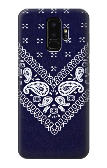 Printed Navy Blue Bandana Pattern Samsung Galaxy S9+ Case
