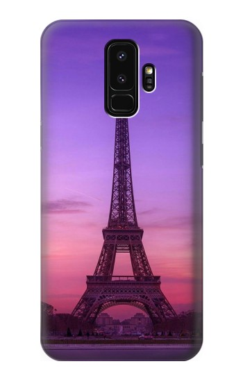 Printed Eiffel Paris Sunset Samsung Galaxy S9+ Case