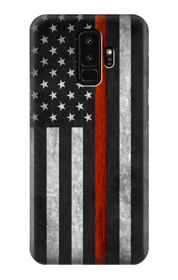 Printed Firefighter Thin Red Line Flag Samsung Galaxy S9+ Case