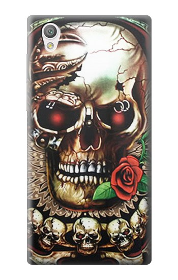 Printed Skull Wing Rose Punk Sony Xperia C4 Case