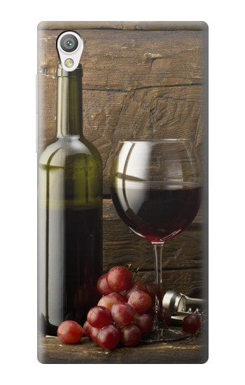Printed Grapes Bottle and Glass of Red Wine Sony Xperia C4 Case