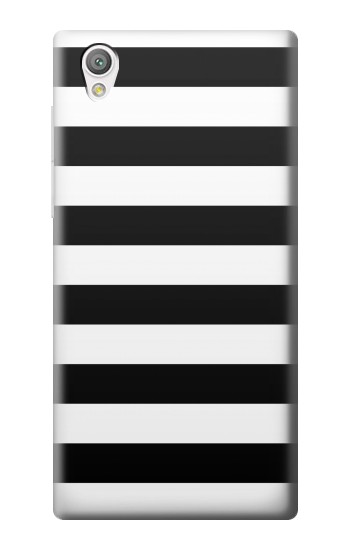 Printed Black and White Striped Sony Xperia C4 Case