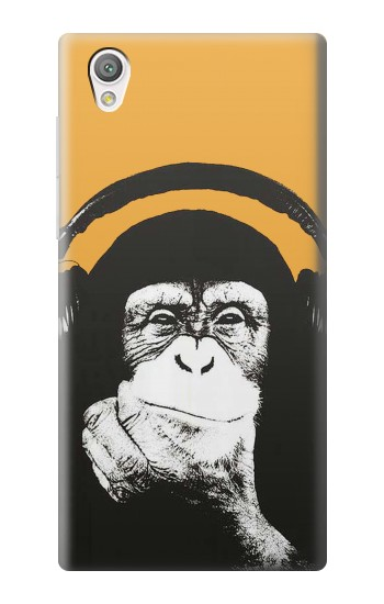 Printed Funny Monkey with Headphone Pop Music Sony Xperia C4 Case