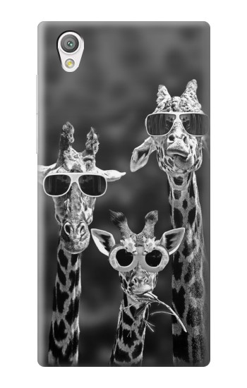 Printed Giraffes With Sunglasses Sony Xperia C4 Case