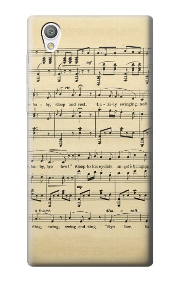 Printed Vintage Music Sheet Sony Xperia C4 Case