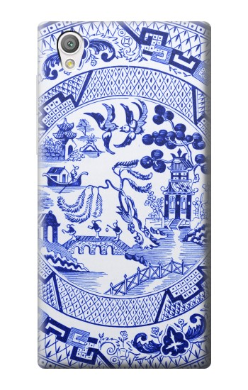 Printed Willow Pattern Illustration Sony Xperia C4 Case