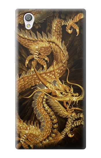 Printed Chinese Gold Dragon Printed Sony Xperia C4 Case