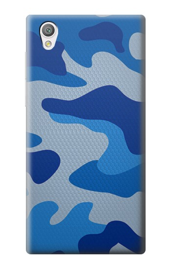 Printed Army Blue Camouflage Sony Xperia C4 Case