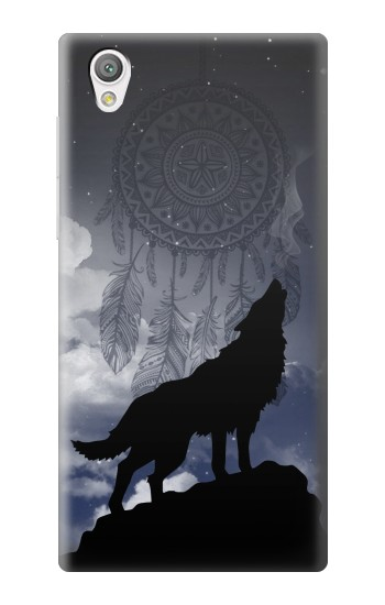 Printed Dream Catcher Wolf Howling Sony Xperia C4 Case
